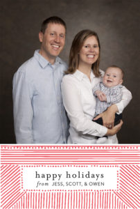 Happy Holidays, from Jess, Scott & Owen